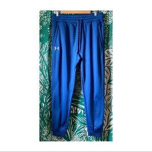 UNDER ARMOUR Men's Blue Jogger Sweatpants L
